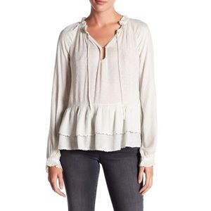 William Rast 'Aimee' Clip Dot Embellished Blouse M
